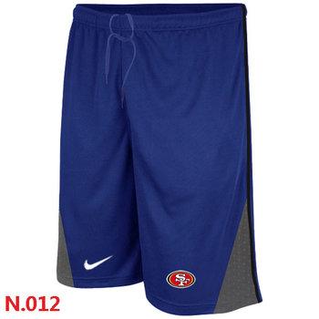 Nike NFL San Francisco 49ers Classic Shorts Blue