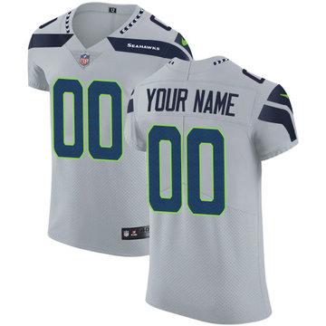 Nike NFL Seattle Seahawks Customized Elite Grey Alternate Men's Jersey