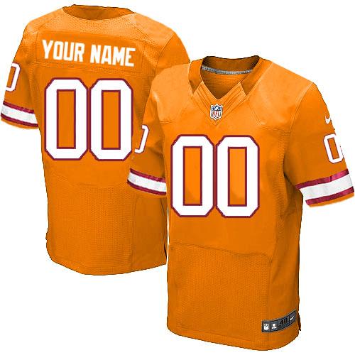 Nike NFL Tampa Bay Buccaneers Customized Elite Orange Alternate Men's Jersey