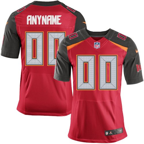Nike NFL Tampa Bay Buccaneers Customized Elite Red Home Men's Jersey