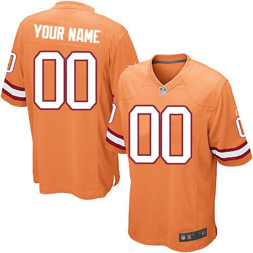 Nike NFL Tampa Bay Buccaneers Customized Limited Orange Alternate Men's Jersey