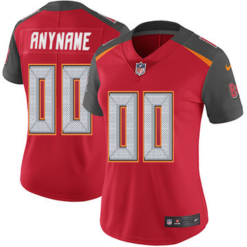 Nike NFL Tampa Bay Buccaneers Vapor Untouchable Customized Elite Red Home Women's Jersey