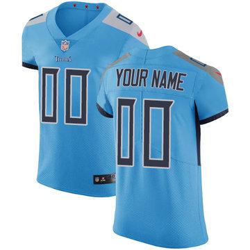 Nike NFL Tennessee Titans Vapor Untouchable Customized Elite Light Blue Alternate Men's Jersey