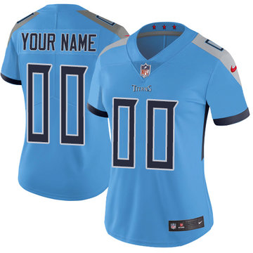 Nike NFL Tennessee Titans Vapor Untouchable Customized Elite Light Blue Alternate Women's Jersey