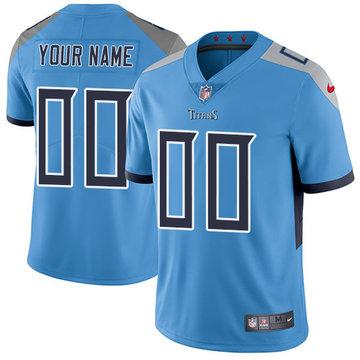 Nike NFL Tennessee Titans Vapor Untouchable Customized Elite Light Blue Alternate Youth Jersey