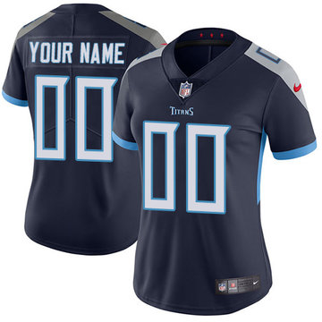 Nike NFL Tennessee Titans Vapor Untouchable Customized Elite Navy Blue Home Women's Jersey