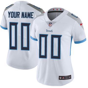 Nike NFL Tennessee Titans Vapor Untouchable Customized Elite White Road Women's Jersey