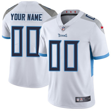 Nike NFL Tennessee Titans Vapor Untouchable Customized Elite White Road Youth Jersey