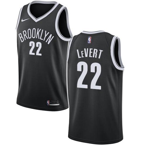Nike Nets #22 Caris LeVert Black NBA Swingman Icon Edition Jersey