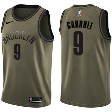 Nike Nets #9 DeMarre Carroll Green Salute to Service NBA Swingman Jersey