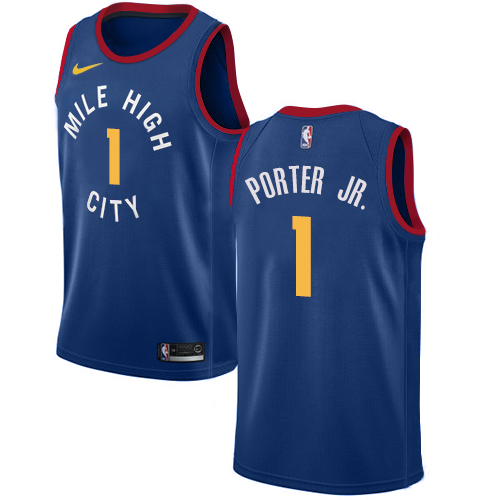 Nike Nuggets #1 Michael Porter Jr. Blue NBA Swingman Statement Edition Jersey