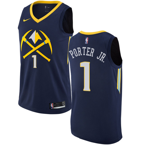 Nike Nuggets #1 Michael Porter Jr. Navy NBA Swingman City Edition Jersey