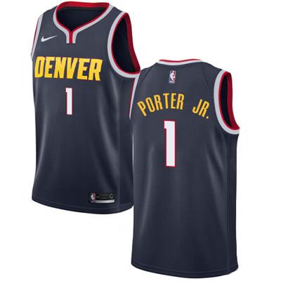 Nike Nuggets #1 Michael Porter Jr. Navy NBA Swingman Icon Edition Jersey
