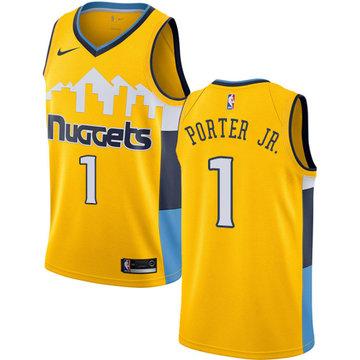 Nike Nuggets #1 Michael Porter Jr. Yellow NBA Swingman Statement Edition Jersey
