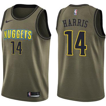 Nike Nuggets #14 Gary Harris Green Salute to Service NBA Swingman Jersey