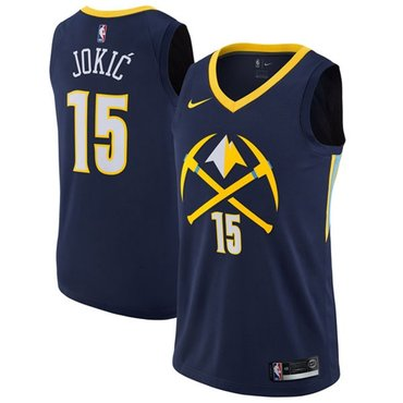 Nike Nuggets #15 Nikola Jokic Navy NBA Swingman City Edition Jersey