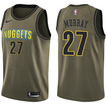 Nike Nuggets #27 Jamal Murray Green Salute to Service NBA Swingman Jersey