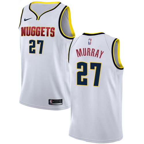 Nike Nuggets #27 Jamal Murray White NBA Swingman Association Edition Jersey