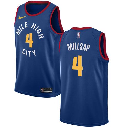 Nike Nuggets #4 Paul Millsap Blue NBA Swingman Statement Edition Jersey