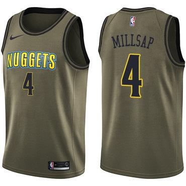 Nike Nuggets #4 Paul Millsap Green Salute to Service NBA Swingman Jersey