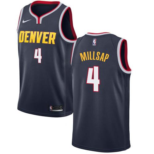 Nike Nuggets #4 Paul Millsap Navy NBA Swingman Icon Edition Jersey