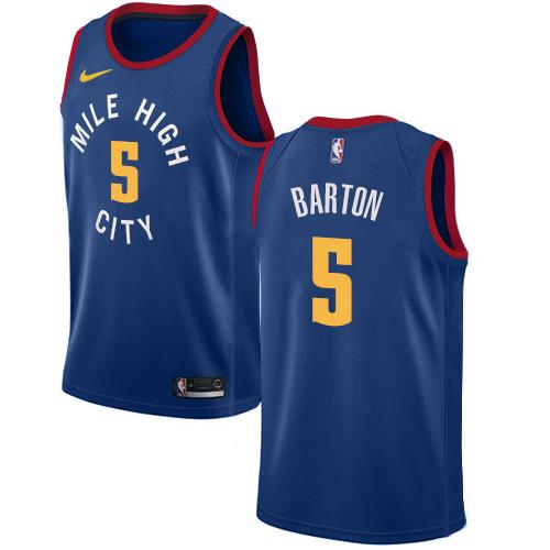 Nike Nuggets #5 Will Barton Blue NBA Swingman Statement Edition Jersey