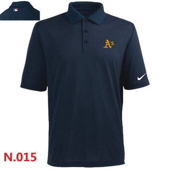 Nike Oakland Athletics 2014 Players Performance Polo -Dark biue3