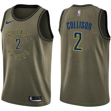 Nike Pacers #2 Darren Collison Green Salute to Service NBA Swingman Jersey