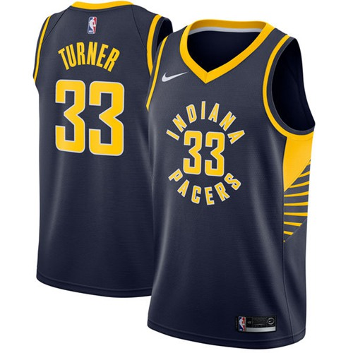 Nike Pacers #33 Myles Turner Navy Blue NBA Swingman Jersey