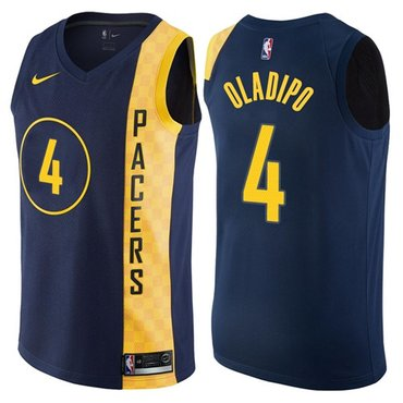 Nike Pacers #4 Victor Oladipo Navy Blue NBA Swingman City Edition Jersey