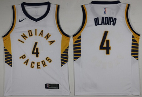 Nike Pacers #4 Victor Oladipo White NBA Swingman Association Edition Jersey
