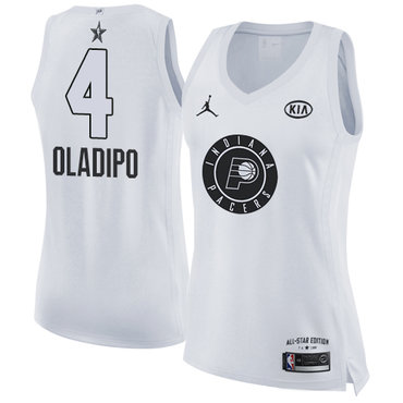 Nike Pacers #4 Victor Oladipo White Women's NBA Jordan Swingman 2018 All-Star Game Jersey