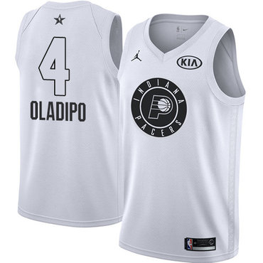 Nike Pacers #4 Victor Oladipo White Youth NBA Jordan Swingman 2018 All-Star Game Jersey