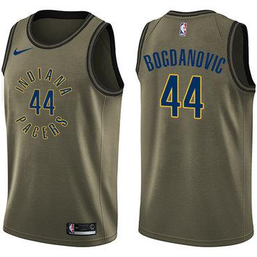 Nike Pacers #44 Bojan Bogdanovic Green Salute to Service NBA Swingman Jersey