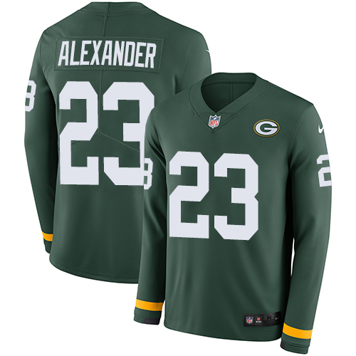 Nike Packers #23 Jaire Alexander Green Team Color Men's Stitched NFL Limited Therma Long Sleeve Jersey