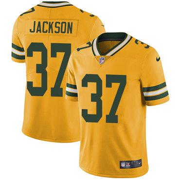 Nike Packers #37 Josh Jackson Yellow Youth Stitched NFL Limited Rush Jersey