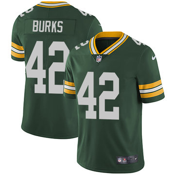 Nike Packers #42 Oren Burks Green Team Color Men's Stitched NFL Vapor Untouchable Limited Jersey