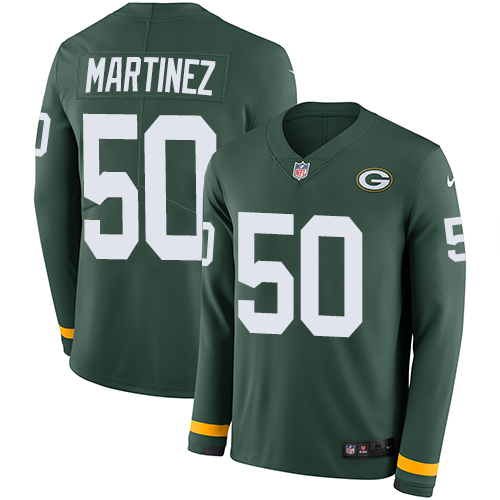 Nike Packers #50 Blake Martinez Green Team Color Men's Stitched NFL Limited Therma Long Sleeve Jersey
