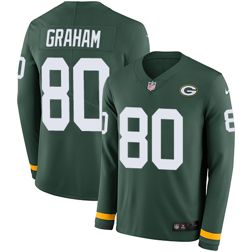 Nike Packers #80 Jimmy Graham Green Team Color Men's Stitched NFL Limited Therma Long Sleeve Jersey