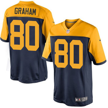 Nike Packers #80 Jimmy Graham Navy Blue Alternate Youth Stitched NFL New Limited Jersey