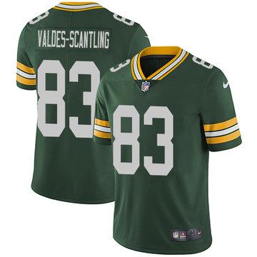 Nike Packers #83 Marquez Valdes-Scantling Green Team Color Men's Stitched NFL Vapor Untouchable Limited Jersey