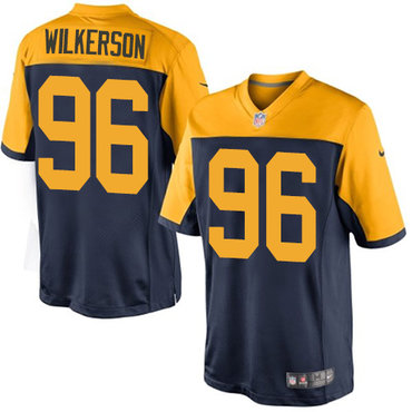 Nike Packers #96 Muhammad Wilkerson Navy Blue Alternate Youth Stitched NFL New Limited Jersey