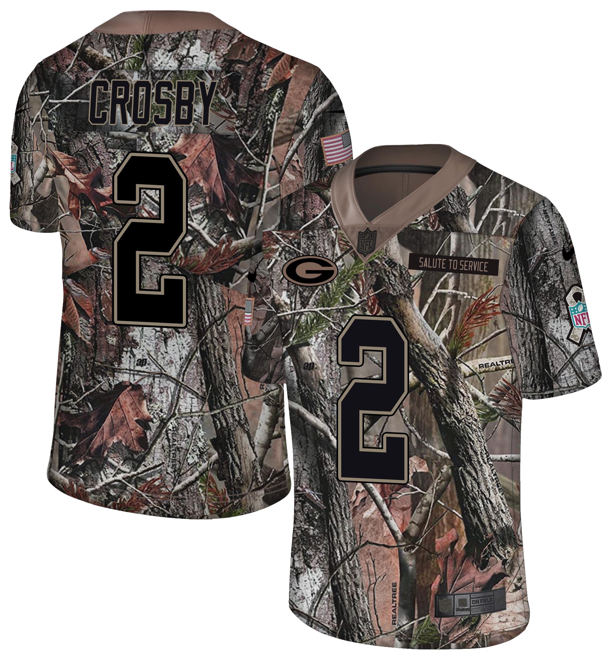 Nike Packers 2 Mason Crosby Camo Rush Limited Jersey