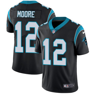 Nike Panthers #12 DJ Moore Black Team Color Youth Stitched NFL Vapor Untouchable Limited Jersey