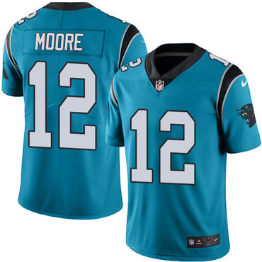 Nike Panthers #12 DJ Moore Blue Youth Stitched NFL Limited Rush Jersey