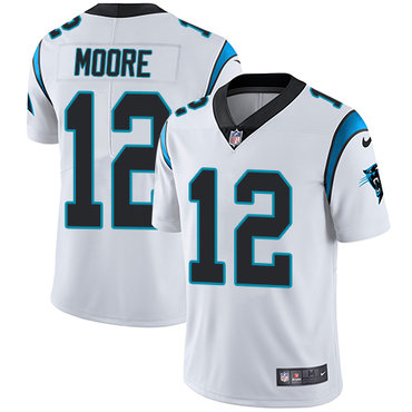 Nike Panthers #12 DJ Moore White Youth Stitched NFL Vapor Untouchable Limited Jersey