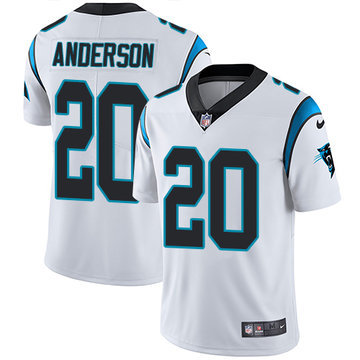 Nike Panthers #20 C.J. Anderson White Men's Stitched NFL Vapor Untouchable Limited Jersey