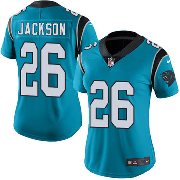 Nike Panthers #26 Donte Jackson Blue Alternate Women's Stitched NFL Vapor Untouchable Limited Jersey