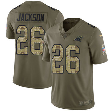 Nike Panthers #26 Donte Jackson Olive Camo Youth Stitched NFL Limited 2017 Salute to Service Jersey