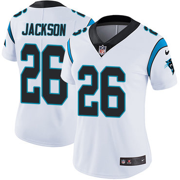 Nike Panthers #26 Donte Jackson White Women's Stitched NFL Vapor Untouchable Limited Jersey